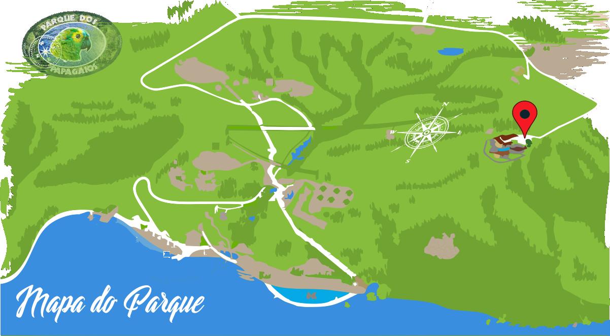 Parque dos Papagaios Mapa